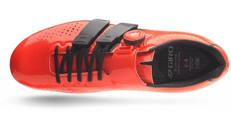 Chaussures route Giro Factor Techlace Rouge/Noir - 6