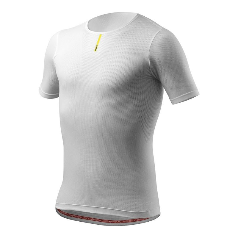 Maillot thermique Mavic Hot Ride manches courtes Blanc