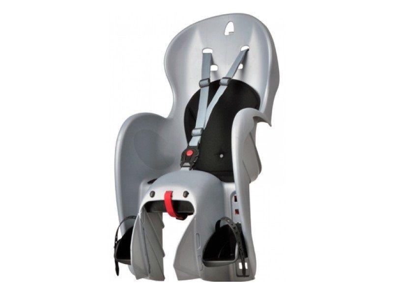 Porte-bébé arrière Polisport Wallaroo sur porte-bagages Gris/Noir
