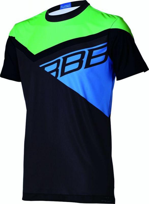 Maillot VTT BBB Gravity Noir/Vert/Bleu - BBW-315