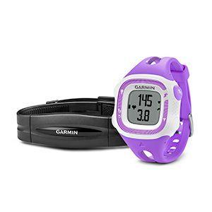 Montre GPS Garmin Forerunner 15 HRM violette et blanche (petite)
