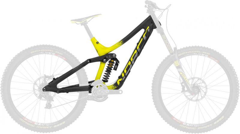 kit cadre vtt dh norco aurum c7 1 noir jaune 2016 224 vendre sur ultime bike