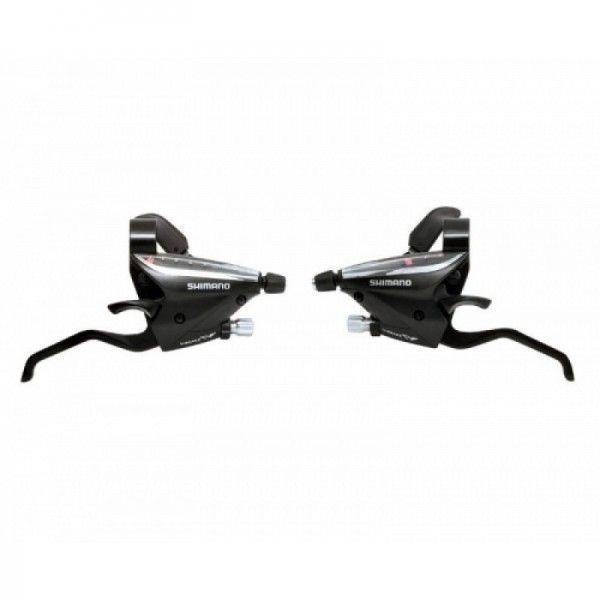 Manettes dérailleur et freins Shimano Altus ST-EF65 3x7V Noir