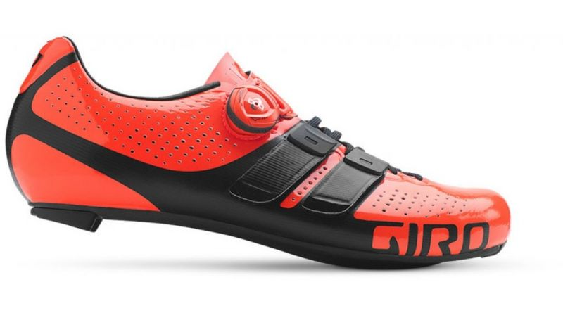 Chaussures route Giro Factor Techlace Rouge/Noir - 1