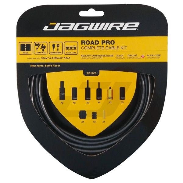 Kit complet câbles et gaines Jagwire Road Pro - Gris RCK001