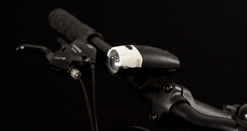 Éclairage AV Spanninga Goma 4 LEDs 20 Lumen À piles Noir/Blanc - 3