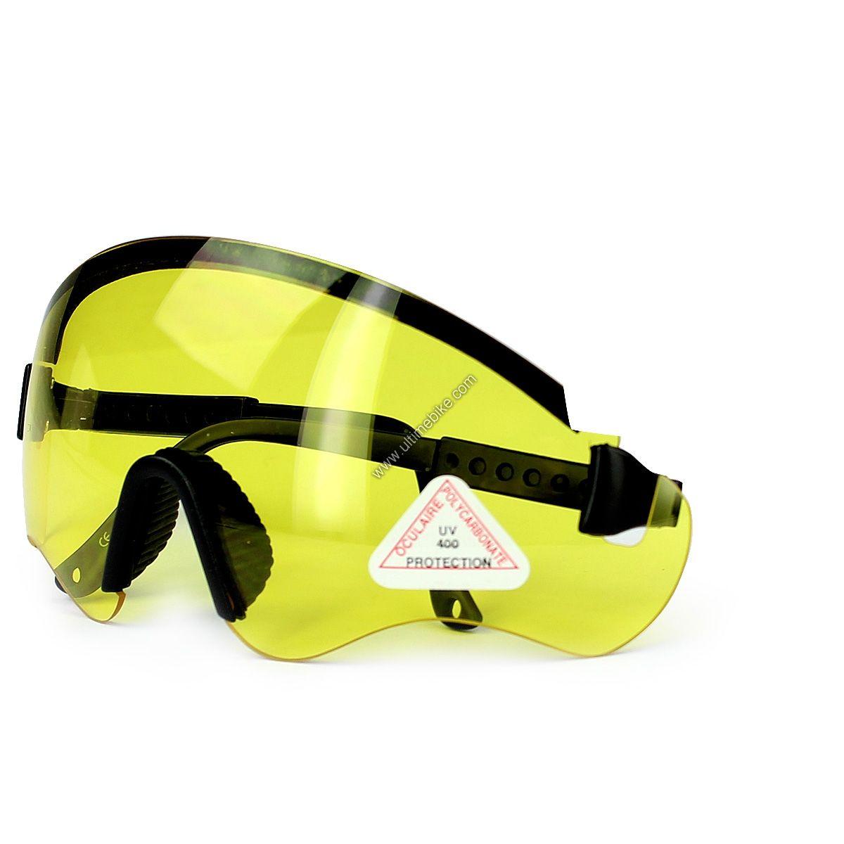 lunettes v lo noir verre jaune pi ces equipement personne sur ultime bike. Black Bedroom Furniture Sets. Home Design Ideas