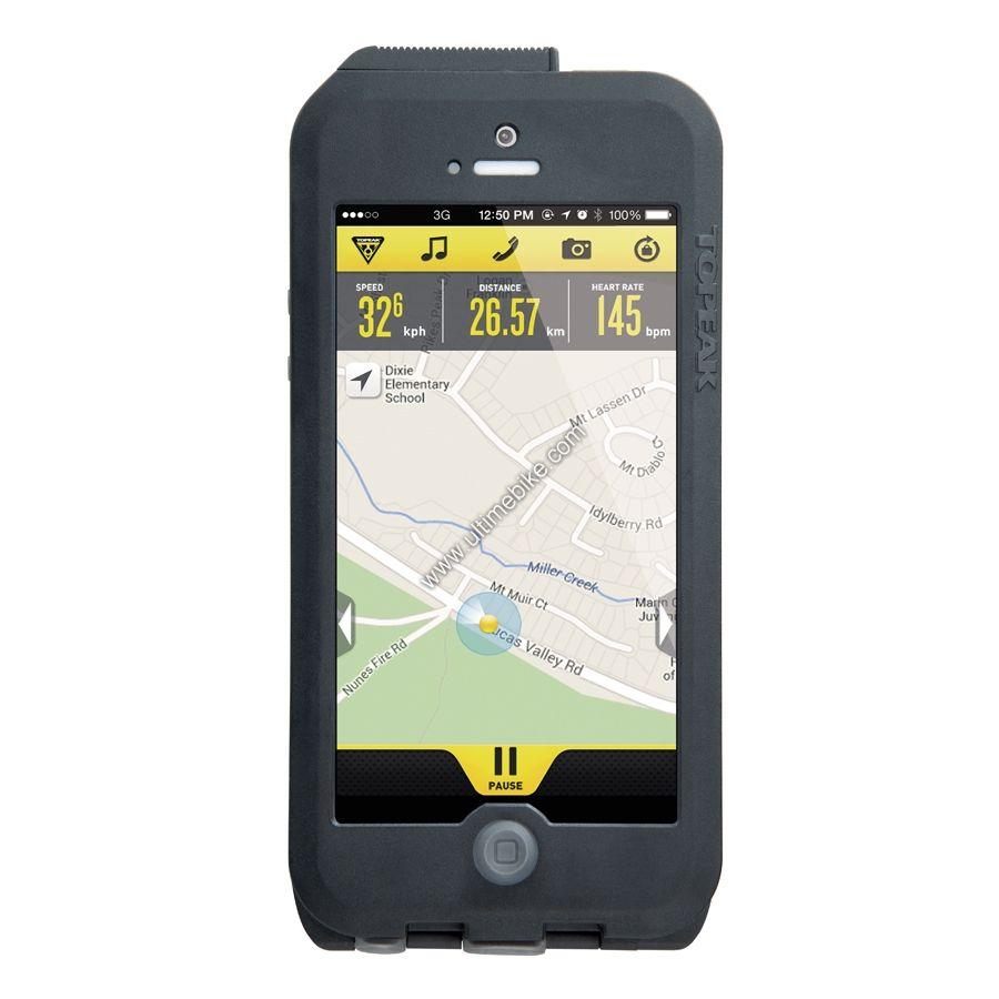 Housse tanche et support de smartphone topeak ridecase for Housse etanche iphone
