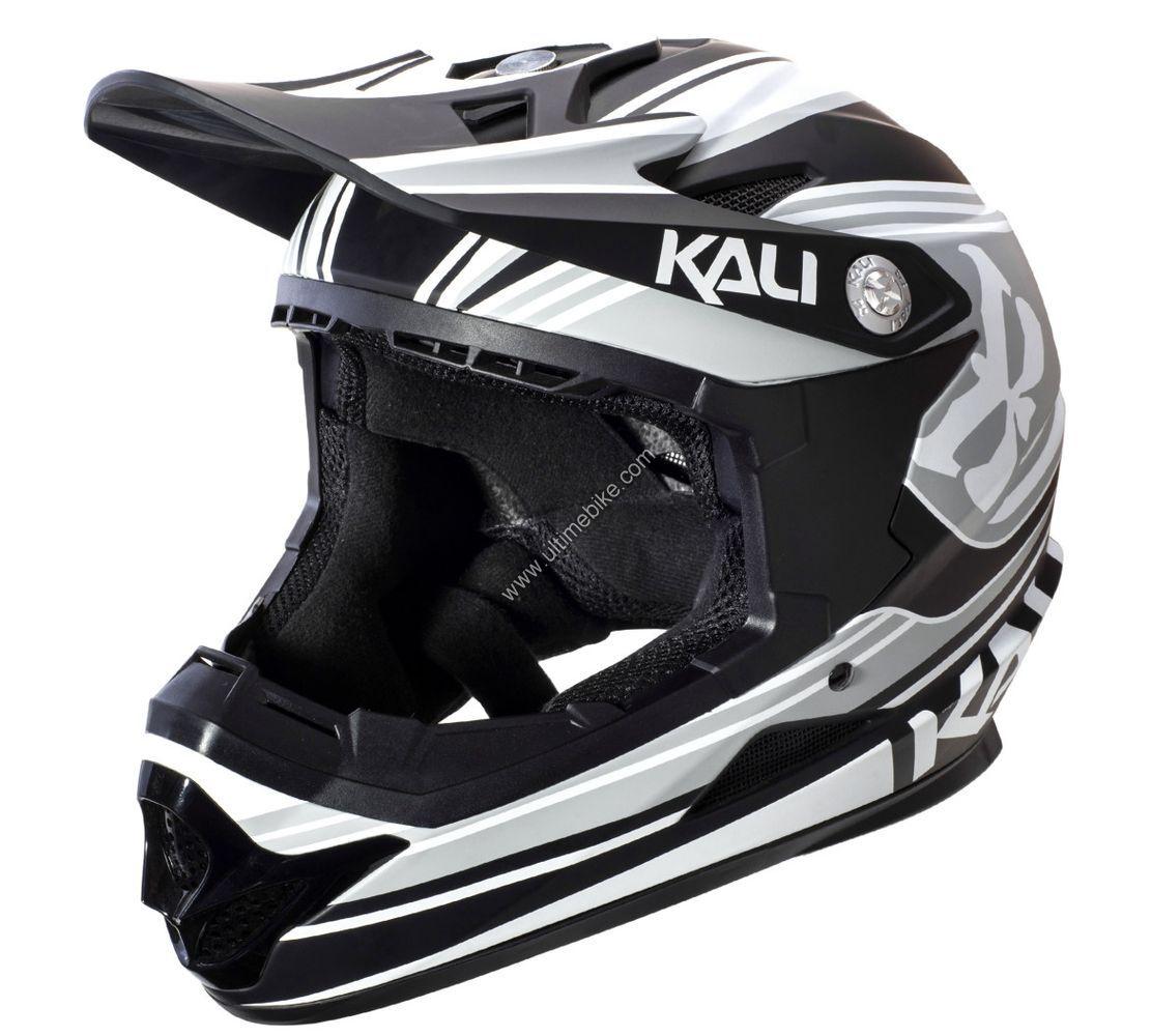 Kali Zoka Visage Complet Casque-Matt Bleu Blanc /& Bleu Marine