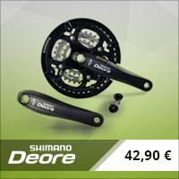 Pédalier Shimano Deore triple 44/32/22 Octalink 175 mm noir