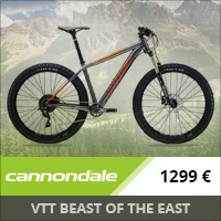 VTT Cannondale Beast Of The East 3 27.5+ 2016 (Gris/Orange)