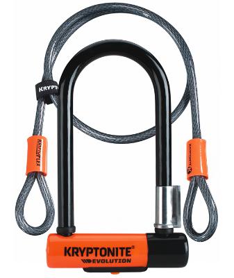 Antivol Kryptonite Evolution Mini-7 Ulock + Câble 120 cm + Support Flexframe