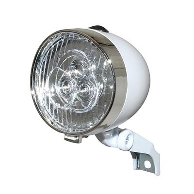 Éclairage AV Rétro à LED Fix. sur fourche À piles Blanc