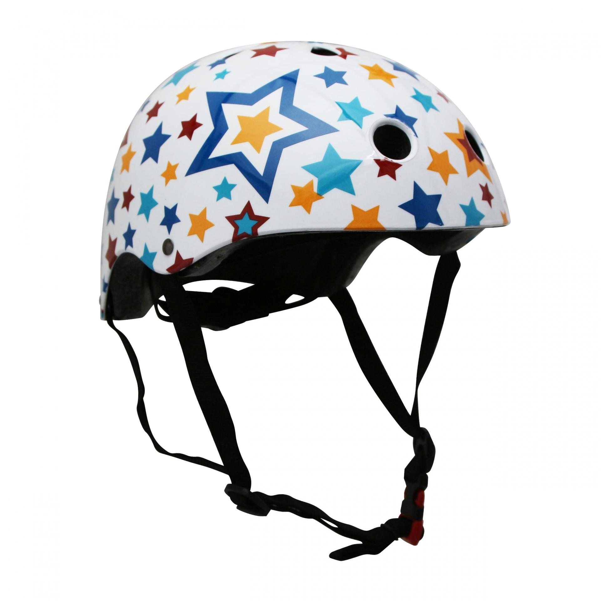Casque vélo enfant Kiddimoto Étoile multicolore - M (53-58 cm)
