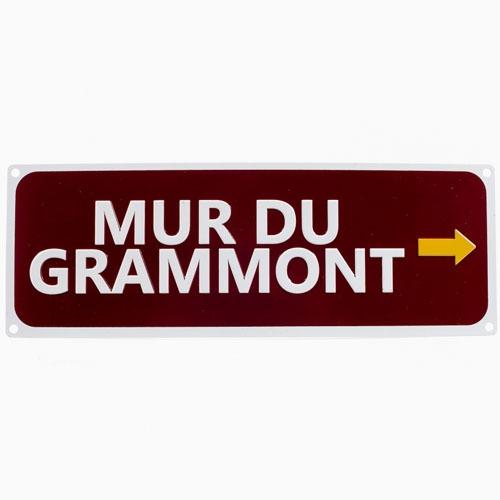 Plaque signalétique Mur De Grammont Belgique Marron