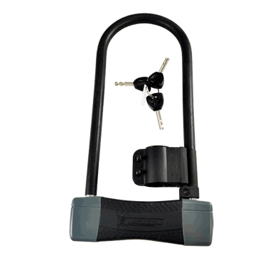Antivol U Michelin 105 x 255 mm Avec support Noir