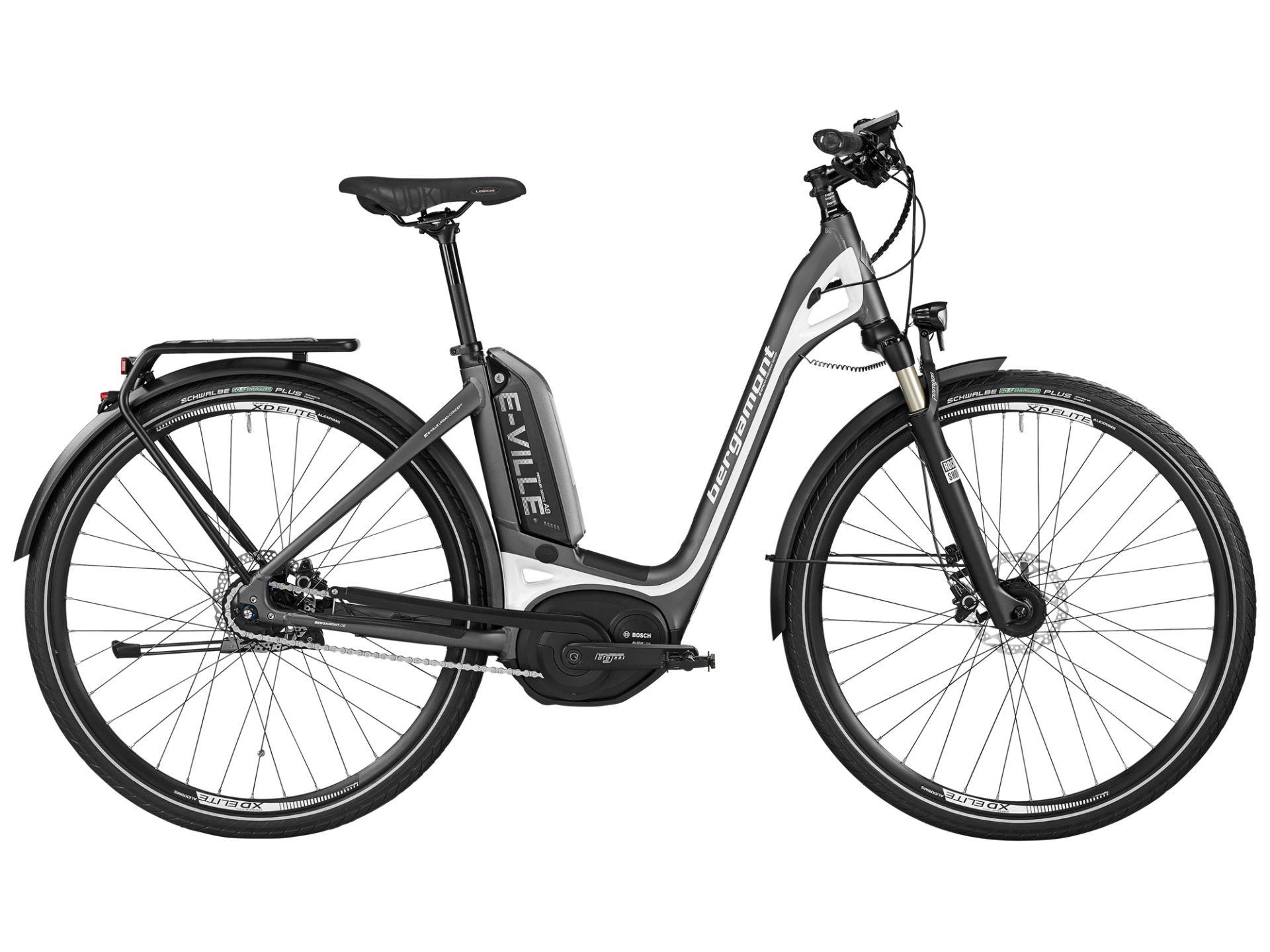 Vélo à assistance électrique Bergamont E-Ville C A8 400 Gris mat/Blanc nacré - 48 cm