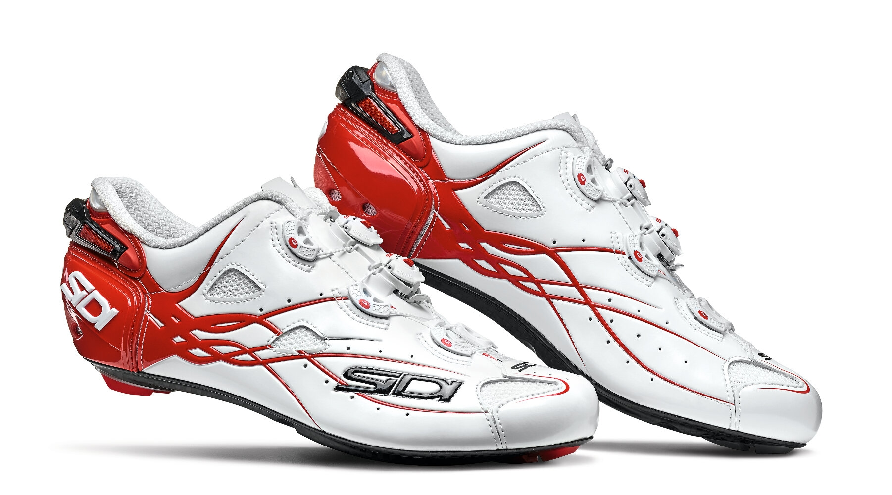 Chaussures Sidi SHOT Blanc/Rouge - 42