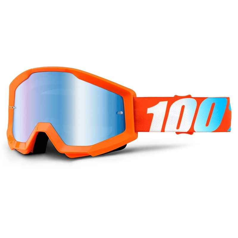 Masque 100% Strata mirror blue lens orange