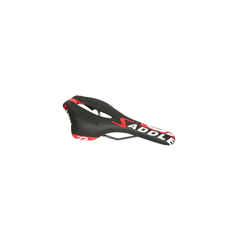 Selle Xinda Route-Triathlon XD827 avec orifice central 260x150 mm Noir/Rouge