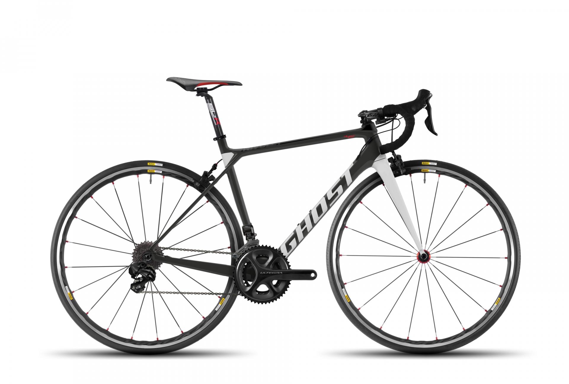 Vélo de route Ghost Nivolet 6 LC 2017 Titanium/Rouge - XS