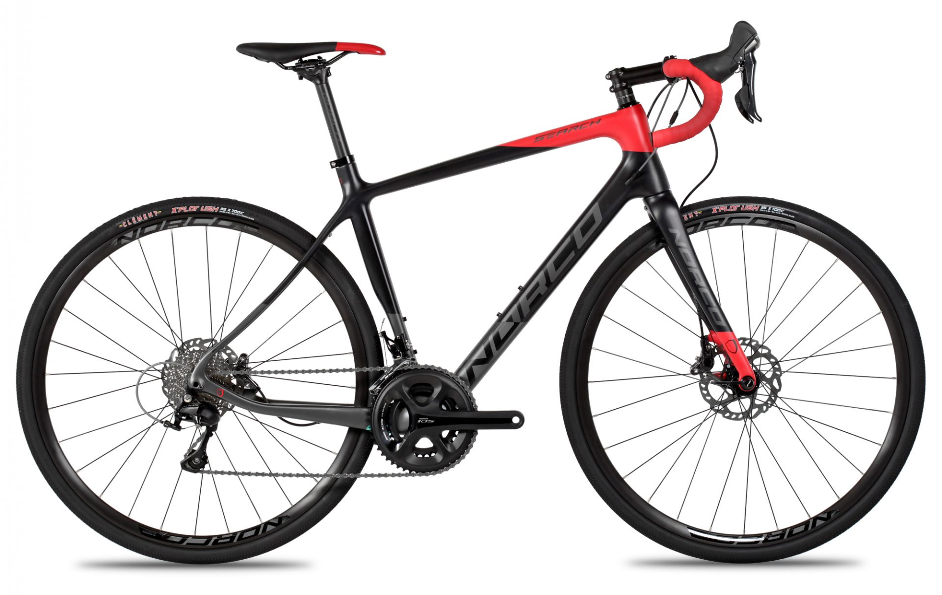 Vélo gravel Norco Search C 105 (Rouge/Gris) 2016 - 55,5 cm