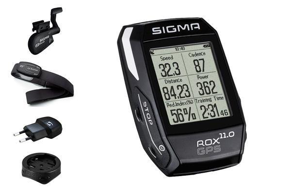 Compteur Sigma Rox 11.0 GPS Set cardio+cadence Noir