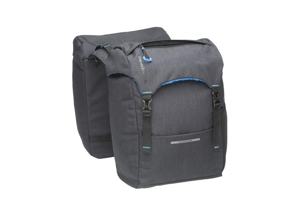 Sacoche double New Looxs Sports À pont sur porte-bagages 30 L Noir