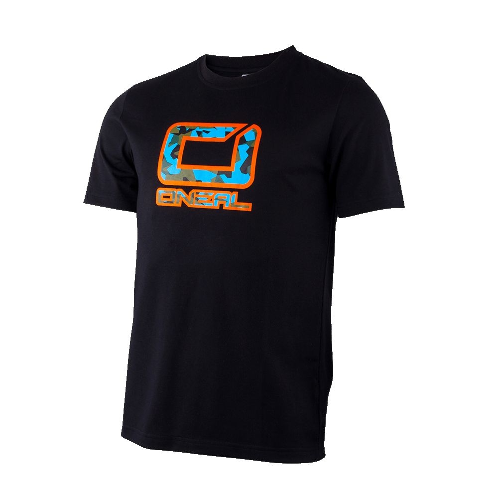 T-shirt O'Neal Slickrock Noir/Orange - M