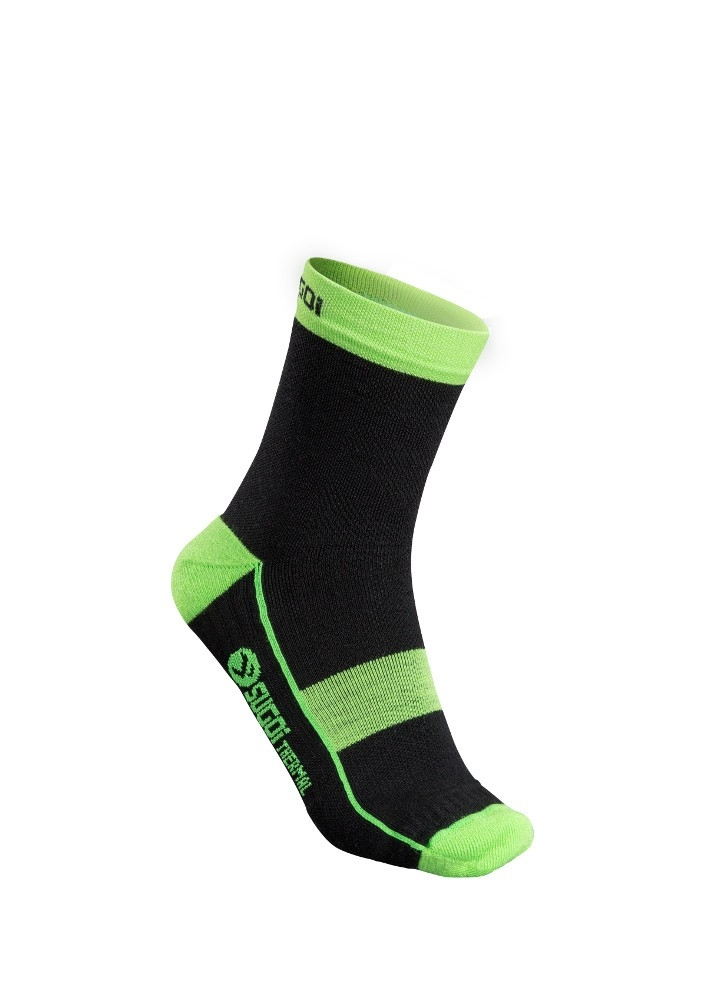 Chaussettes hiver Sugoi RS Winter Merino Noir/Vert - S / 38-40