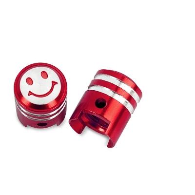 Bouchon de valve WTP Schrader Piston Rouge (Paire)