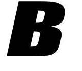 Sticker lettre B Noir