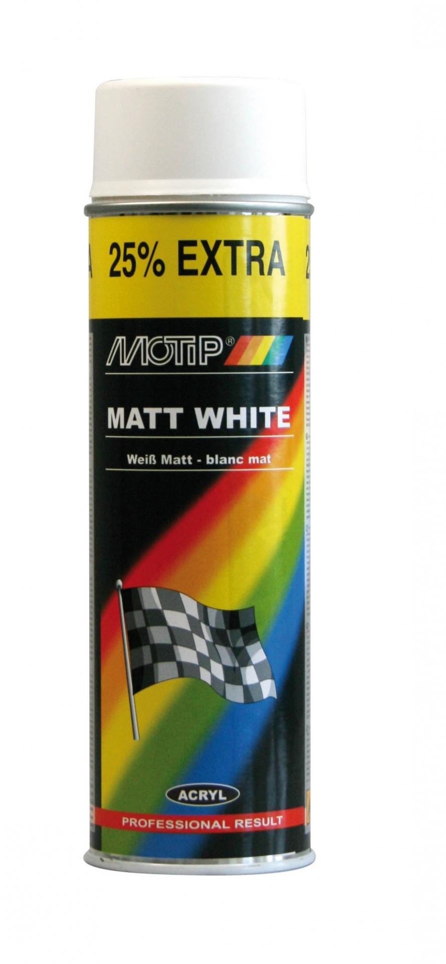 Bombe de peinture MoTip blanc mat 500 ml M04002