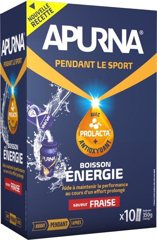 Boisson énergie Apurna Fraise Étui 10x35 g