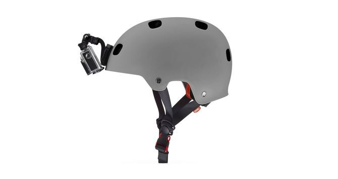 Fixation frontale pour casque GoPro
