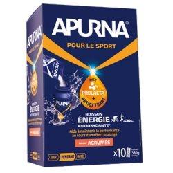 Boisson énergie Apurna Agrumes Étui 10x35 g