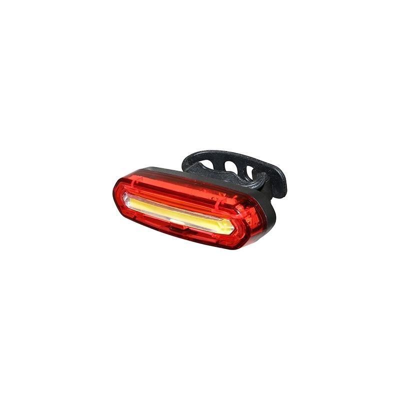 Éclairage AV ou AR à LED COB À batterie Fix. sur cintre ou sur tige de selle Noir
