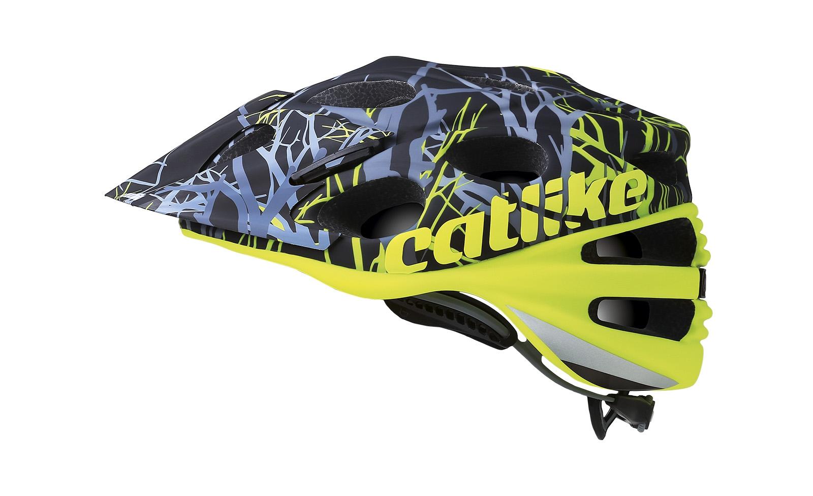 Casque Catlike Leaf 2C Jaune Fluo/Camo - M 54-57