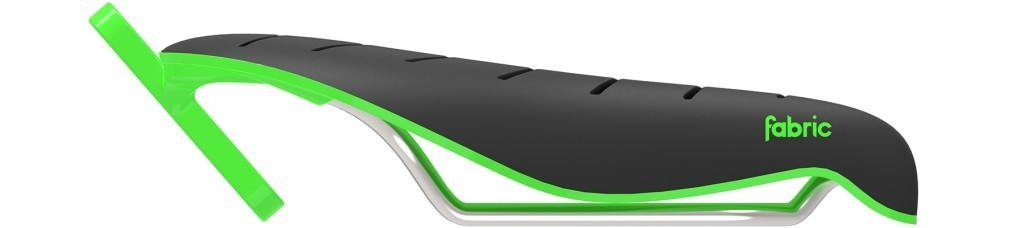 Selle Fabric Tri Flat Elite 134 mm Noir/Vert