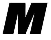 Sticker lettre M Noir