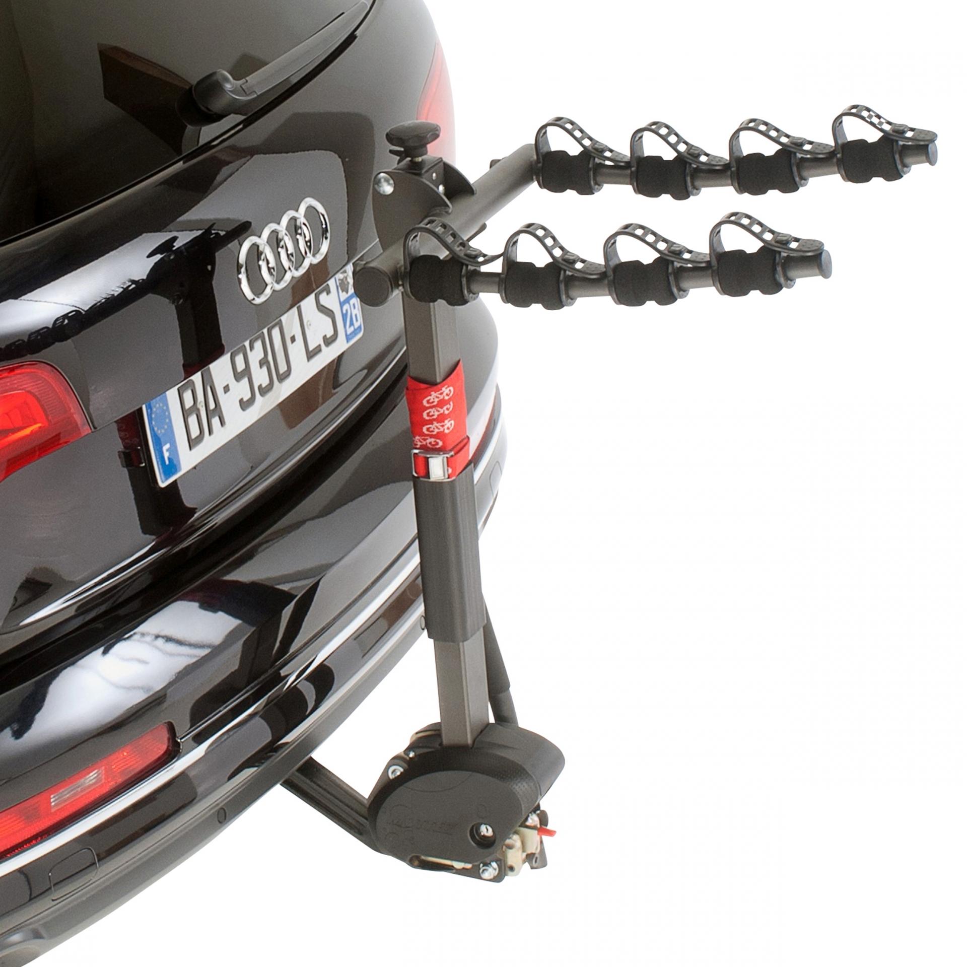 Porte-vélo sur attelage 4 vélos Inclinable Avec antivol