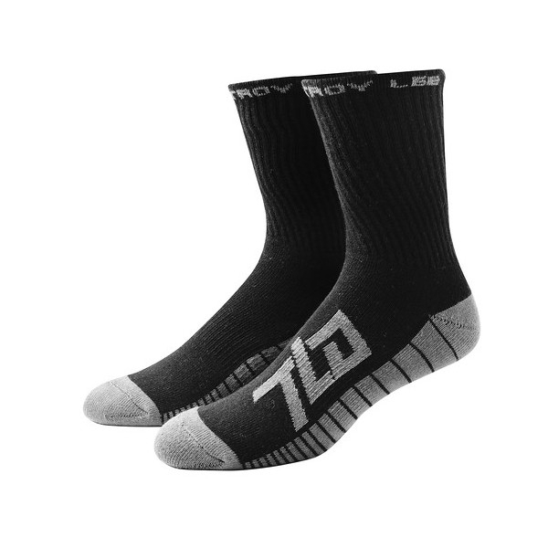 Chaussettes Troy Lee Designs Factory Crew Noir - 43-46