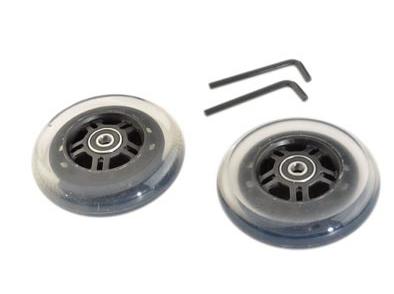 Roues de trottinette 100 mm Roulements Abec 9 (Paire) Transparent