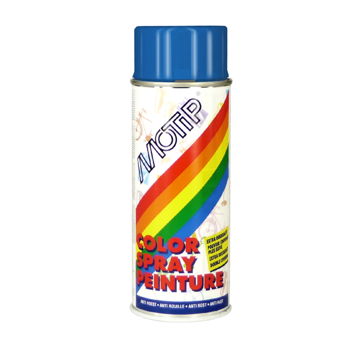 Bombe de peinture MoTip bleu gentiane brillant 400 ml