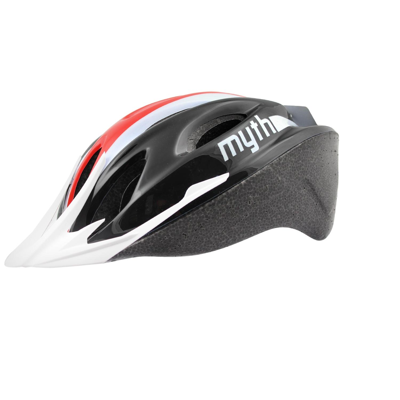 Casque vélo Polisport Myth Adulte Noir/Rouge - 52/56
