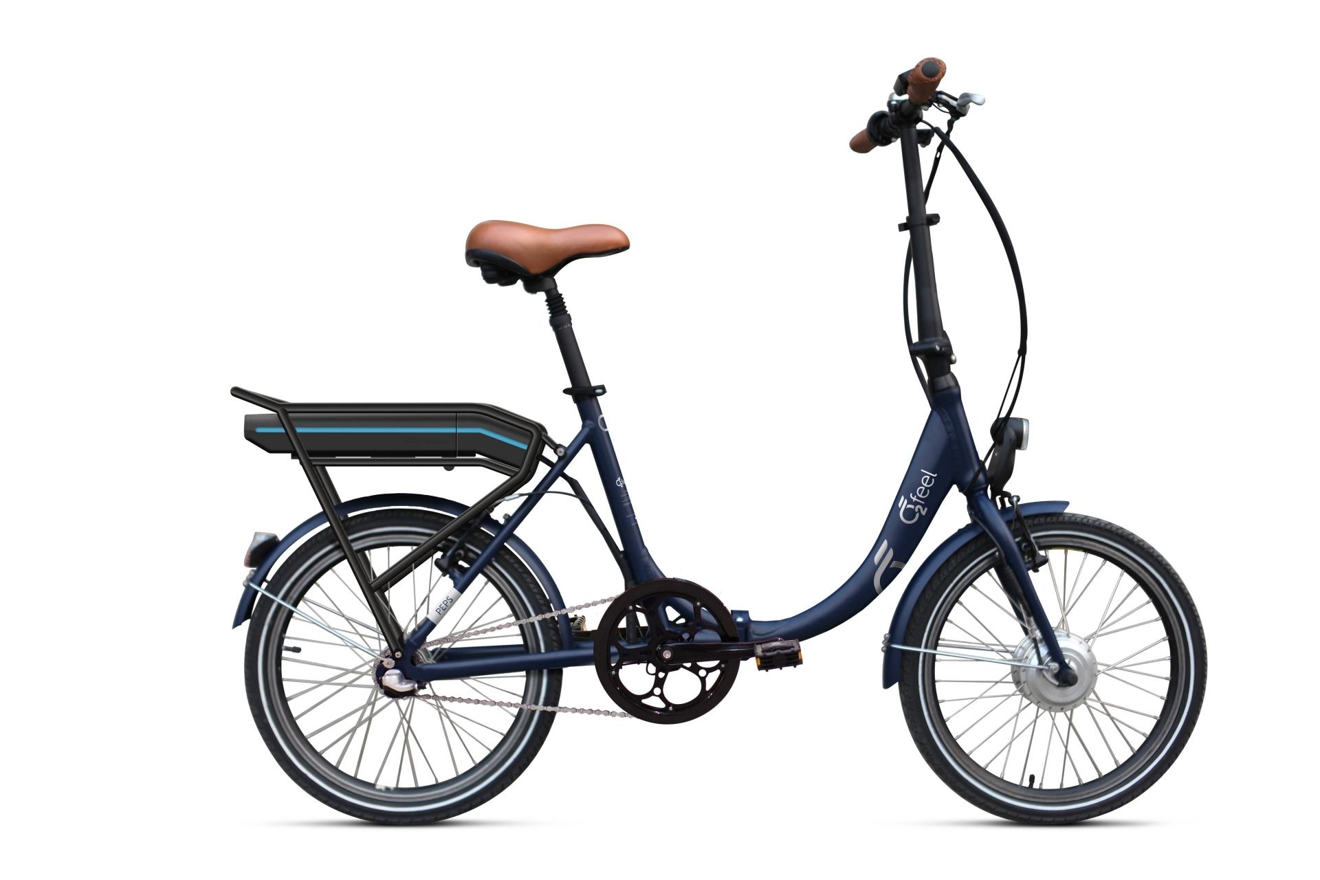 Vélo électrique pliant O2Feel Peps Bas N3 504 Wh Bleu