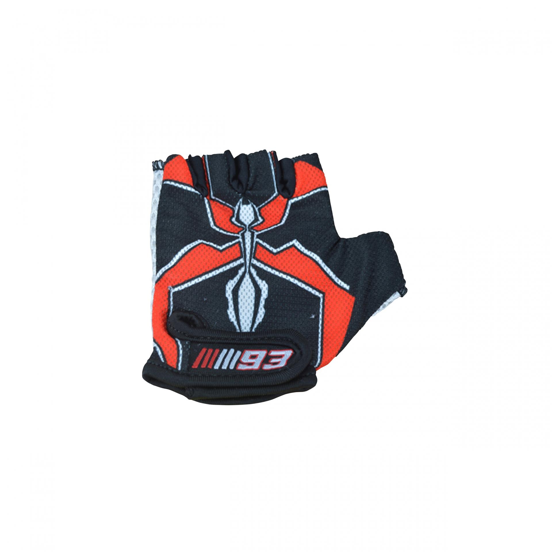 Gants vélo enfant Kiddimoto Marc Marquez 93 Noir/Rouge - S (2 ans-5 ans)