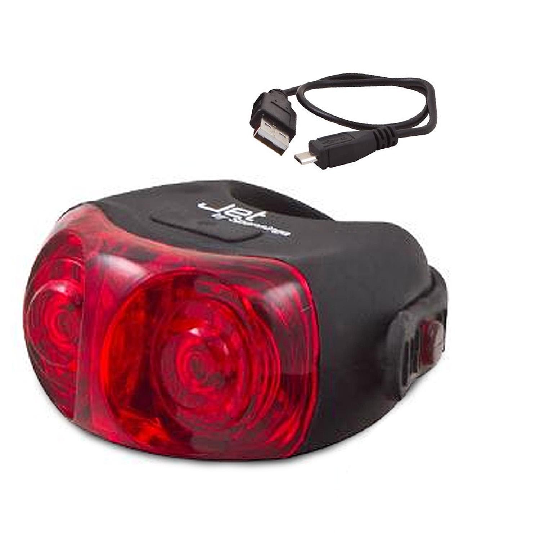 Éclairage arrière Spanninga Jet Rear 2 LEDs (Batterie rechargeable USB)