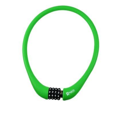 Antivol Rangers Câble à Code D.15 x 0.75 m 100 % Silicone Vert