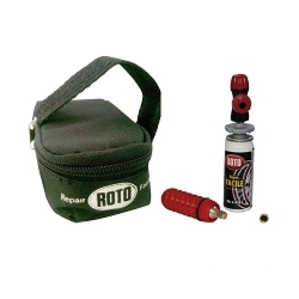 Kit de réparation Roto (sacoche sous selle + 1 cartouche CO2 16 g + 1 cartouche réparation)